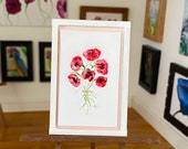 Miniature Poppy Art Modern Dollhouse framed Picture