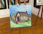 Miniature Picture Dolls House Cottage Garden Cottage Landscape Painting