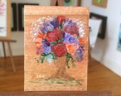 Miniature  Painting  Dolls House Original Art Collectible period style flower vase Painting