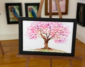 Modern Dollhouse Picture ancient tree in blossom