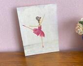 Ballerina Modern Abstract  Miniature Original Painting dollhouse