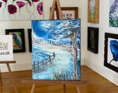 Winter landscape Miniature Dollhouse Painting Art
