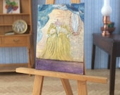Period Style Gown Miniature Dressing Room Dolls House Painting Original Miniature Art