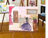 The Music Room miniature dollhouse painting