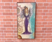 Steampunk Gothic Fairy Dolls House  Painting Original Miniature Art