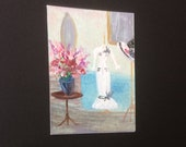 Day at the races Dress Dressing Room ACEO part of my a my fair lady Hollywood Collection Painting Original Miniature Art