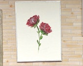 Miniature Art. Original painting Roses Large dollhouse or art collector