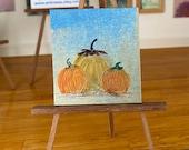 Pumpkins dollhouse miniature Halloween painting