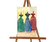 DollHouse Fashion Miniature Painting The Designer Gowns