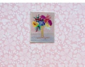 1:24 Dollhouse flower bouquet Original tiny miniature Painting