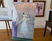 Dolls house flapper girl 1920's dancer  miniature original art painting