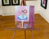 Miniature Ballerina Dolls House Painting Original Art