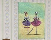 Dollhouse Scottish dancers miniature original painting