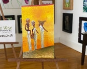 Dolls House sunset African style art shown here in my 1:12 art gallery