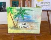 Dollhouse sign. Beach original art miniature plaque style painting