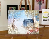 Dolls House  Art Painting, autumn landscape original collectible
