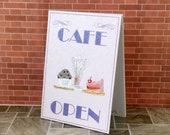 Sandwich Board Miniature Dolls House Cafe coffee cake Advertising Billboard Sign OOAK Original Miniature Art