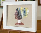 Framed Dolls House African Lady Portrait style  Miniature Painting