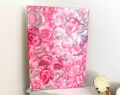 Abstract pink  Roses modern miniature dollhouse painting