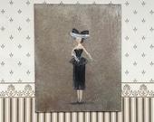 Miniature Art Lady Betty Doll Portrait