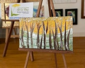 Autumn Sunset Trees Miniature landscape Dolls house Abstract  wallart picture