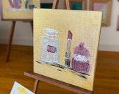 Dolls house painting. Modern miniature original art.