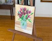 Tulips Miniature Dolls House Painting Spring flowers