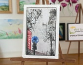 Miniature Painting Modern Art Dollhouse framed Picture London
