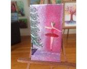 Christmas Ballet Ballerina painting Dolls House Original Art Painting Dollhouse furniture