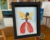 Miniature Angel Dollhouse Art Christmas Art Painting
