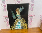 Lady Peacock portraits style miniature dollhouse painting Georgian style