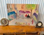 Dolls House Original Art  Landscape Painting Dollhouse shopping