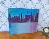 Abstract City Scape  DollHouse Modern  Miniature Painting original miniature art