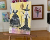 Miniature Witch Dress shop dressing room Art Painting