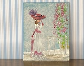Lady Rose Dollhouse Miniature Painting A Day At The Races fashion