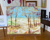 Fall Autumn Path Landscape Miniature Art Dolls House Picture