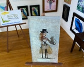 Steampunk Dollhouse Miniature Painting Art In Wax