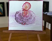 Boudoir Vintage Doll miniature original art painting