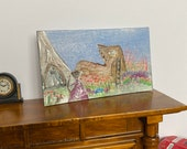 Dollhouse mouse house missy Boot House, DollHouse Picture Original Art In miniature