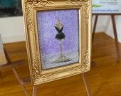 Dolls house fashion art  miniature original painting