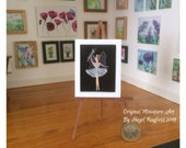 Miniature fairy ballerina dollhouse 1:12 original painting