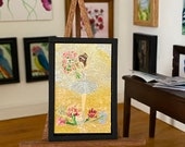 Dollhouse Ballerina at the finale Original Art Painting