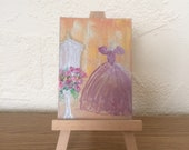The Waltzing Dress Dressing Room ACEO part of my a Hollywood Collection Painting Original Miniature Art