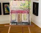 Miniature Dollhouse Painting Shop or Pub Art