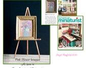 As seen in American Miniaturist magazine February 2020 Dolls house  Miniature Art framed 1:12 flower vase