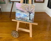 Fall Autumn River Landscape Miniature Art Dolls House Picture