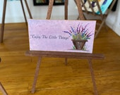 "Miniature ""enjoy the little things"" Dolls house Painting handmade"