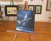 Miniature Witch Hallowe'en Dolls house painting flying witch original art miniature
