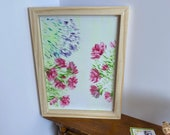 Modern Miniature Painting Shabby Chic Roses