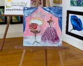 Period style Miniature Dressing Room Dolls House Painting Original Miniature Art